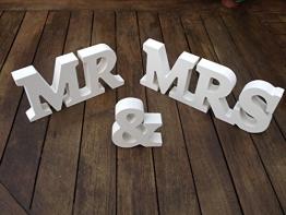 Dekoration aus Holz, Mr & Mrs , Hochzeitsgeschenk - 1