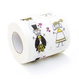 Hochzeit Toilettenpapier Just Married Fun Klopapier bedruckt - 1