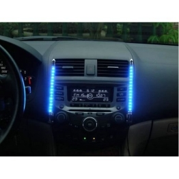 Auto Innenraum LED Beleuchtung mit Musik Sensor BLAU - 1