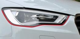 Devil Eye Scheinwerfer Aufkleber Stripes in Rot, passend für Ihr Fahrzeug - 1