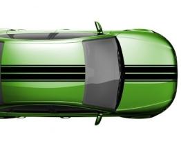 Viperstreifen 14 x 200 cm Rennstreifen Auto Tuning Autoaufkleber Viper 2N005, Farbe:Schwarz Matt - 1