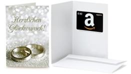 Amazon.de Grußkarte mit Geschenkgutschein - 40 EUR (Hochzeitswünsche) - 1